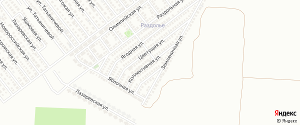 Коллективная улица на карте Магнитогорска с номерами домов
