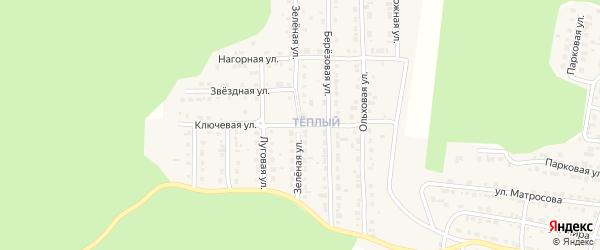 Ключевая улица на карте Сатки с номерами домов