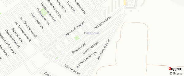 Ягодная улица на карте Магнитогорска с номерами домов