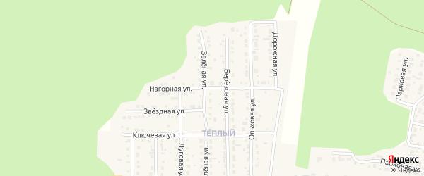 Нагорная улица на карте Сатки с номерами домов