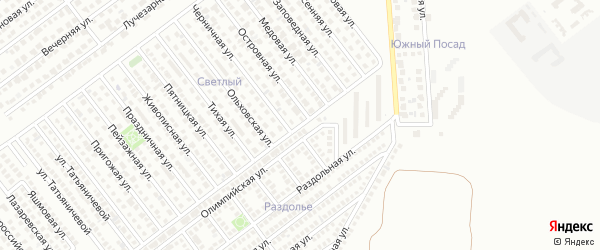Олимпийская улица на карте Магнитогорска с номерами домов