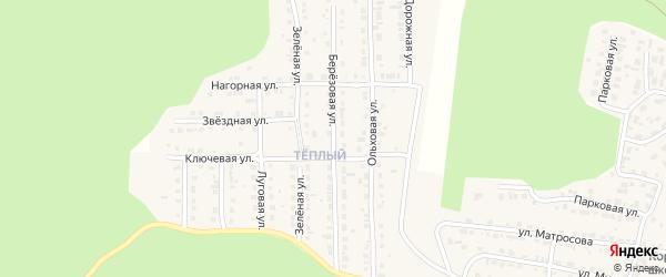 Березовая улица на карте Сатки с номерами домов