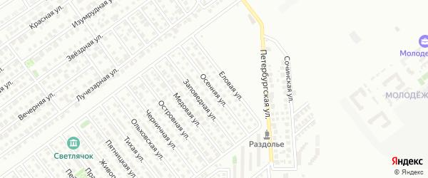 Осенняя улица на карте Магнитогорска с номерами домов