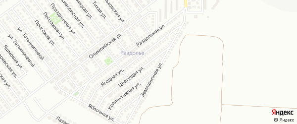 Цветущая улица на карте Магнитогорска с номерами домов