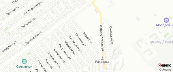 Еловая улица на карте Магнитогорска с номерами домов