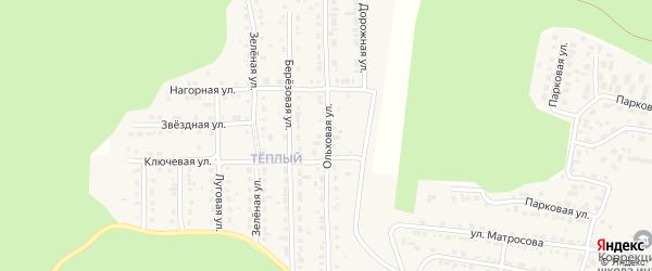 Ольховая улица на карте Сатки с номерами домов