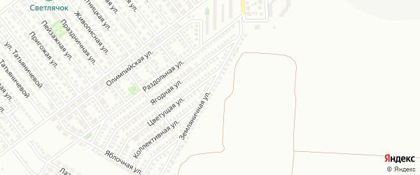 Земляничная улица на карте Магнитогорска с номерами домов