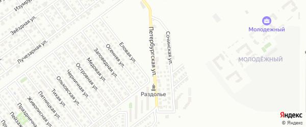 Петербургская улица на карте Магнитогорска с номерами домов