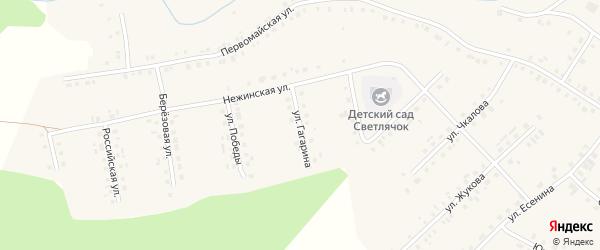 Улица Гагарина на карте села Новобелокатая с номерами домов