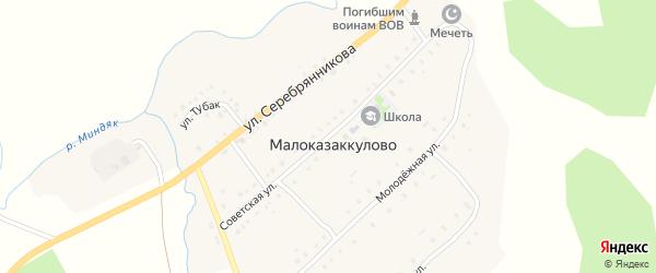 Советская улица на карте деревни Малоказаккулово с номерами домов