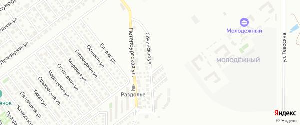 Сочинская улица на карте Магнитогорска с номерами домов