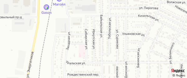 Иркутская улица на карте Магнитогорска с номерами домов