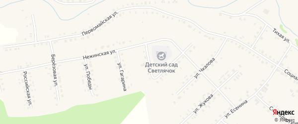 Новая улица на карте села Новобелокатая с номерами домов