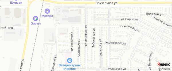 Байкальская улица на карте Магнитогорска с номерами домов