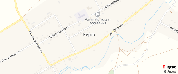 Территория Подстанция на карте села Кирсы с номерами домов