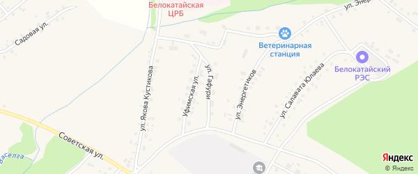 Улица Мажита Гафури на карте села Новобелокатая с номерами домов