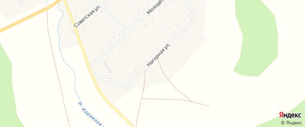 Нагорная улица на карте деревни Малоказаккулово с номерами домов