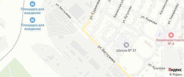 Улица Бестужева на карте Магнитогорска с номерами домов