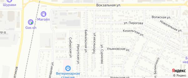 Тобольская улица на карте Магнитогорска с номерами домов