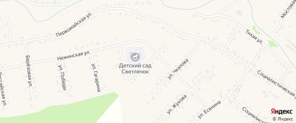 Комсомольская улица на карте села Новобелокатая с номерами домов