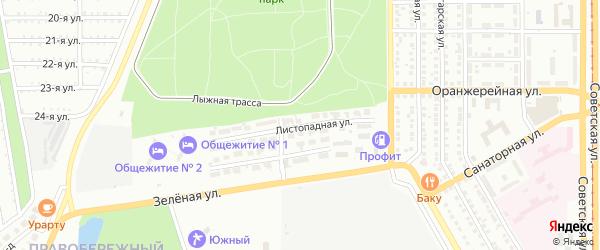 Листопадная улица на карте Магнитогорска с номерами домов