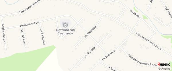 Улица В.Чкалова на карте села Новобелокатая с номерами домов