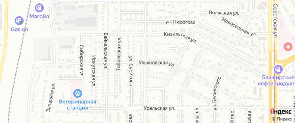 Ульяновская улица на карте Магнитогорска с номерами домов