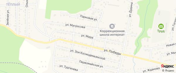 Улица Мира на карте Сатки с номерами домов