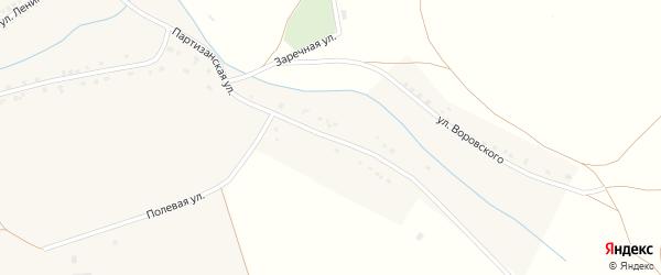 Улица Воровского на карте села Кирсы с номерами домов