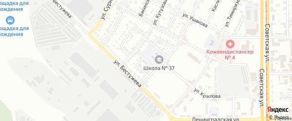 Краснодарский переулок на карте Магнитогорска с номерами домов