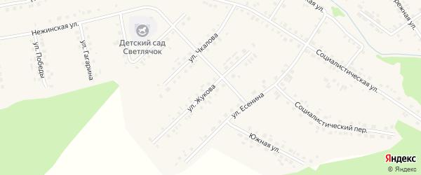 Улица Жукова на карте села Новобелокатая с номерами домов