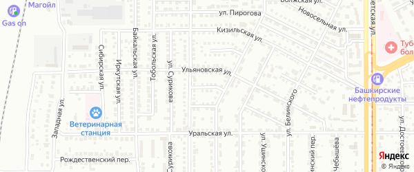 Барсучий переулок на карте Магнитогорска с номерами домов