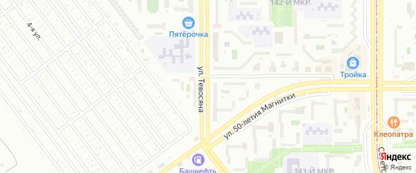 Улица Тевосяна на карте Магнитогорска с номерами домов