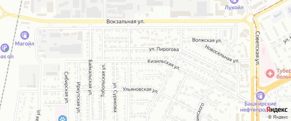 Кизильская улица на карте Магнитогорска с номерами домов