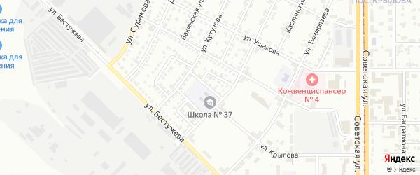 Донбасский переулок на карте Магнитогорска с номерами домов