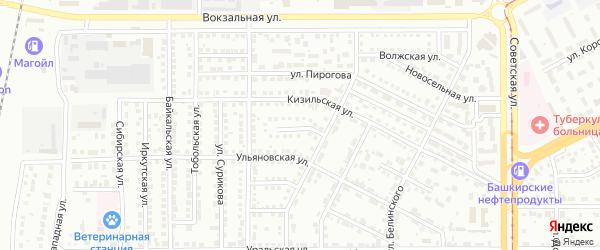 Октябрьский переулок на карте Магнитогорска с номерами домов