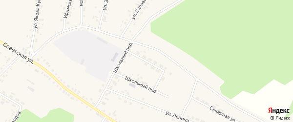 Перспективная улица на карте села Новобелокатая с номерами домов