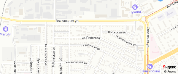 Улица Пирогова на карте Магнитогорска с номерами домов