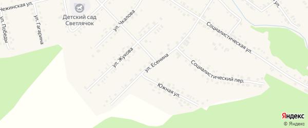 Улица Есенина на карте села Новобелокатая с номерами домов