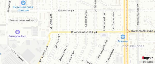 Улица Кутузова на карте Магнитогорска с номерами домов