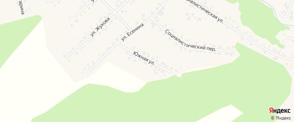 Южная улица на карте села Новобелокатая с номерами домов