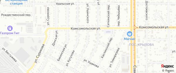 Улица Ушинского на карте Магнитогорска с номерами домов