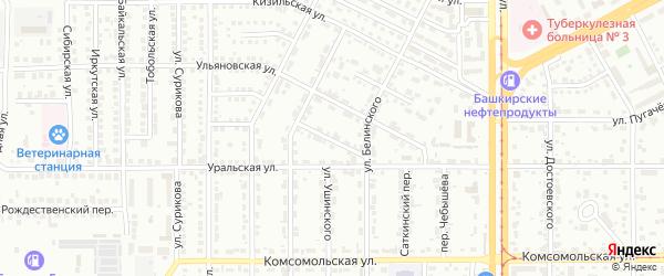 Новгородский переулок на карте Магнитогорска с номерами домов