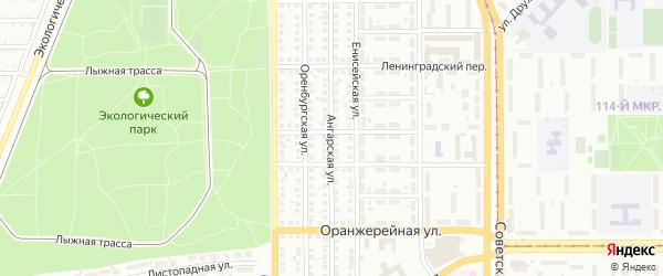 Ангарская улица на карте Магнитогорска с номерами домов