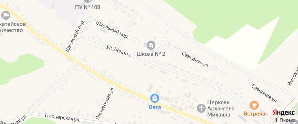 Улица Ленина на карте села Новобелокатая с номерами домов
