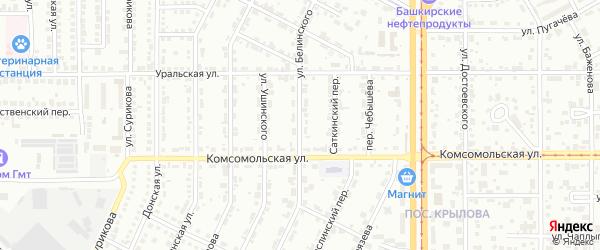 Улица Белинского на карте Магнитогорска с номерами домов