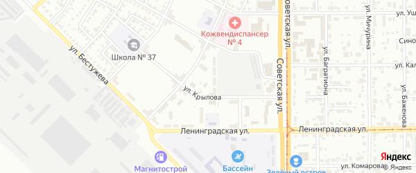Улица Володарского на карте Магнитогорска с номерами домов