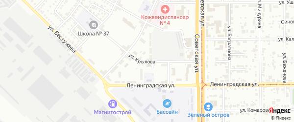 Улица Крылова на карте Магнитогорска с номерами домов