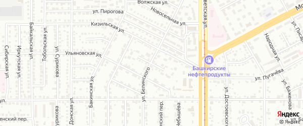 Переулок Чернова на карте Магнитогорска с номерами домов