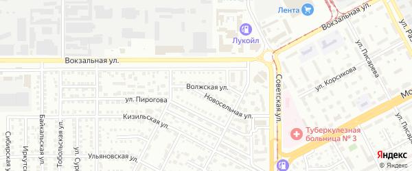 Волжская улица на карте Магнитогорска с номерами домов